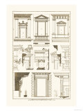 Windows of Palazzo Non Finito, Palace and House at Rome Premium Giclee Print by J. Buhlmann