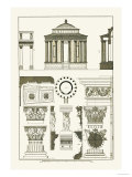 Temple of Vesta at Tivoli, Incantana at Salonichi Prints by J. Buhlmann