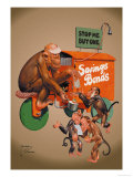 Buy Savings Bonds Poster by Lawson Wood