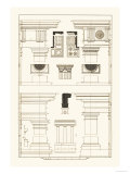 Doric, Tuscan Orders and Columns Print by J. Buhlmann