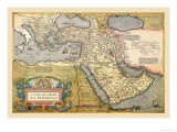 Map of the Middle East Poster by Abraham Ortelius