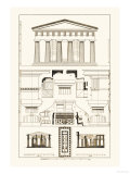 Temple of Poseidon at Paestum Premium Giclee Print by J. Buhlmann