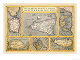 Maps of Italian Islands Prints by Abraham Ortelius