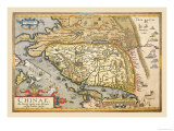 Map of Far East China Prints by Abraham Ortelius