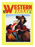 Western Story Magazine: She Ruled the West Poster