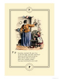 Little Lily&#39;s Alphabet: Pancakes, Mamma! Prints by Oscar Pletsch