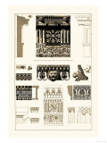 Entablatures, Terracottas and Cymas Premium Giclee Print by J. Buhlmann