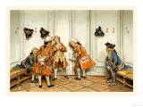 School for Scandal: Eavesdropping Prints by Lucius Rossi