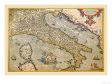 Map of Italy Poster by Abraham Ortelius