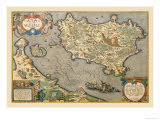 Map of a Mediterranean Island Prints by Abraham Ortelius