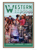 Western Story Magazine: Supper Time Prints by Walter Kaskell Kinton