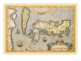 Map of Japan Posters by Abraham Ortelius