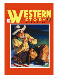 Western Story Magazine: by the Fire Poster