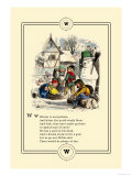 Little Lily&#39;s Alphabet: Winter is Everywhere Posters by Oscar Pletsch