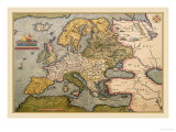Map of Europe Art by Abraham Ortelius