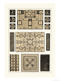Painted Ceilings and Pavements from Pompeii Prints by J. Buhlmann