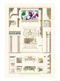 Ionic Orders and Capitals, Polychrome Premium Giclee Print by J. Buhlmann