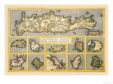 Maps of Mediterranean Islands Prints by Abraham Ortelius