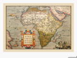 Map of Africa Posters by Abraham Ortelius