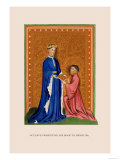 Occleve Presenting His Book to Henry V Premium Giclee Print by H. Shaw