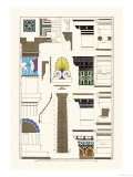 Details of Parthenon, Polychrome Premium Giclee Print by J. Buhlmann