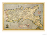Map of Southern Italy Posters by Abraham Ortelius