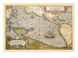 Map of the Pacific Ocean Prints by Abraham Ortelius
