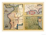 Three Maps Posters by Abraham Ortelius