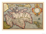 Map of Scotland Posters by Abraham Ortelius