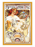 Biscuits Lefevre-Utile Prints by Alphonse Mucha
