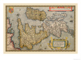 Map of Britian and Ireland Prints by Abraham Ortelius