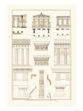 Doric Order, Temple of Zeus and Cased Column Prints by J. Buhlmann