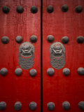 The Giant Red Doors to the Forbidden City in Beijing Photographic Print by  xPacifica