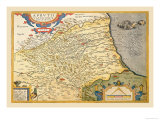 Map of Northeastern Italy Poster by Abraham Ortelius