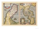Maps of Peninsulas Prints by Abraham Ortelius