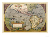 Map of the Americas Posters by Abraham Ortelius
