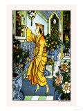 Aladdin Secures the Lamp Posters by Walter Crane