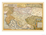 Map of Eastern Europe Poster by Abraham Ortelius