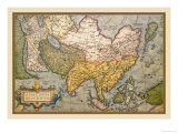 Map of Asia Poster by Abraham Ortelius