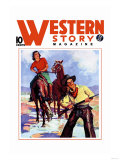 Western Story Magazine: Western Pair Posters