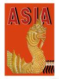 Dragon Temple of Siam Plakat af Frank Mcintosh