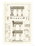 Porch of the Cathedral of Spoleto and Arcade from Palazzo Farnese Premium Giclee Print by J. Buhlmann