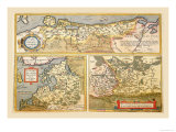 Maps of Eastern Europe and Russia Poster by Abraham Ortelius