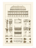 Basilica at Vicenza and Library of St. Marks at Venice Prints by J. Buhlmann