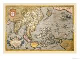 Karte von South Ost Asien Poster von Abraham Ortelius