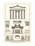Portico, Coffer and Palmette-Ornament Print by J. Buhlmann