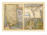 Maps of Turkey, Egypt, and Libya Print by Abraham Ortelius