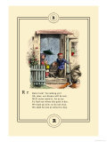 Little Lily&#39;s Alphabet: Rain! Print by Oscar Pletsch