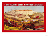 Forepaugh and Sells Brothers Great Show Consolidated Posters