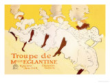 Troupe de Mille Eglantine Posters by Henri de Toulouse-Lautrec